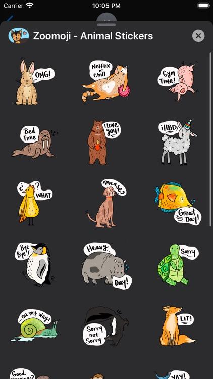 Zoomoji - Animal Stickers screenshot-3