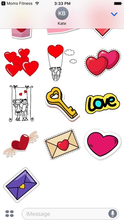 Cute Valentine's Day Stickers! screenshot-4