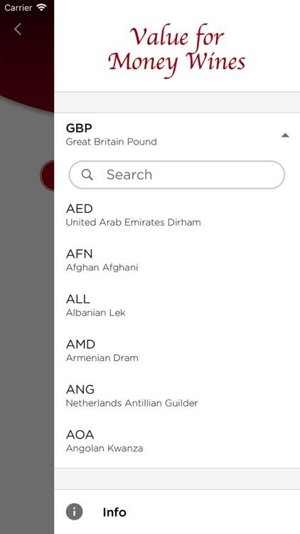Value for Money Wines Pro screenshot-3
