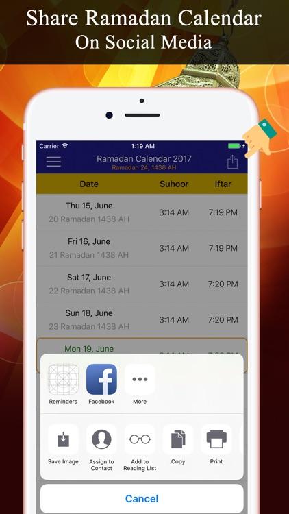 Ramadan Calendar تقويم رمضان screenshot-3