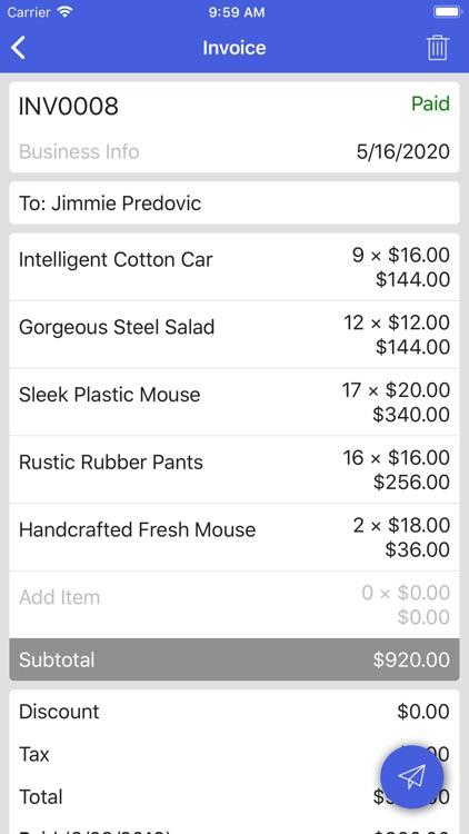Invoice Simple Lite screenshot-3
