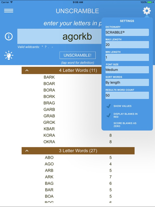 Unscramble Letters on the App Store