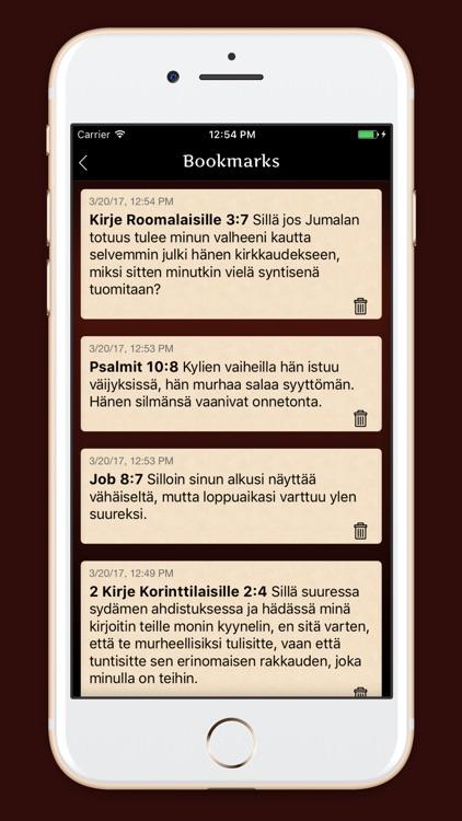 Pyhä Raamattu - Finnish Bible screenshot-3