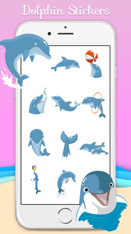 Ocean Dolphin Stickers screenshot-2