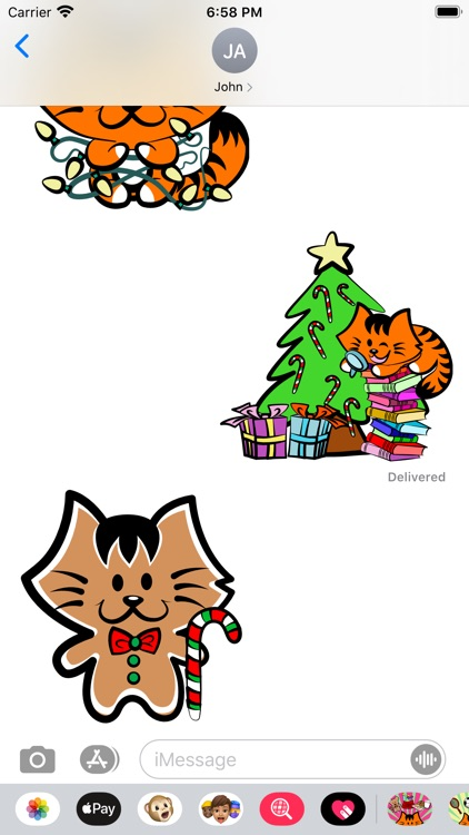 Kikimoji Christmas Love screenshot-4
