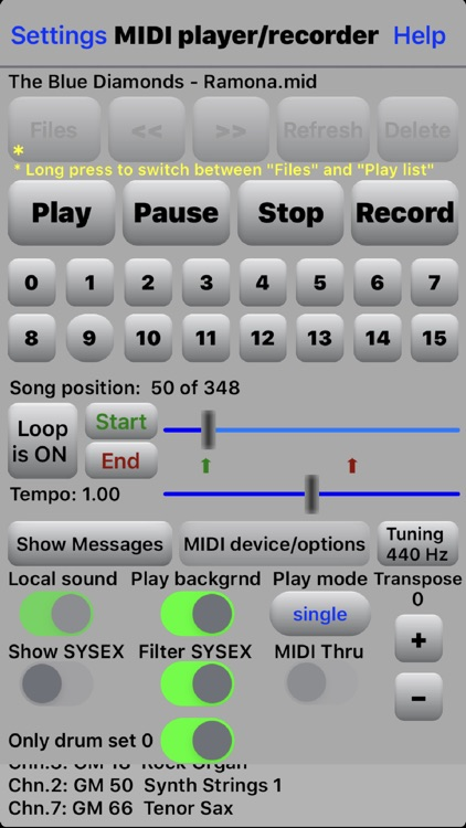 MIDI file player screenshot-0