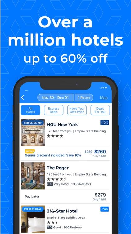 Priceline - Hotels & Flights screenshot-0