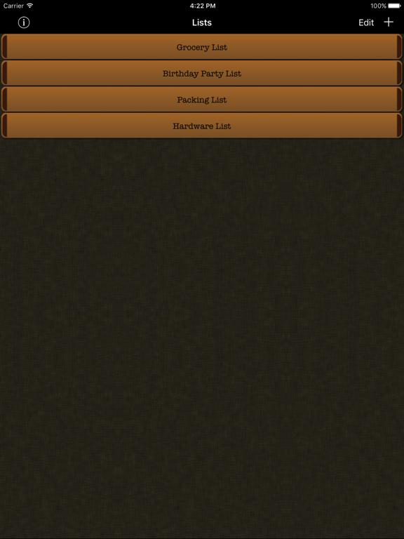 Simple Grocery List screenshot