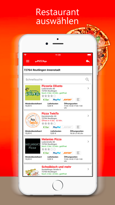 goPIZZAgo - Essen bestellen screenshot 3