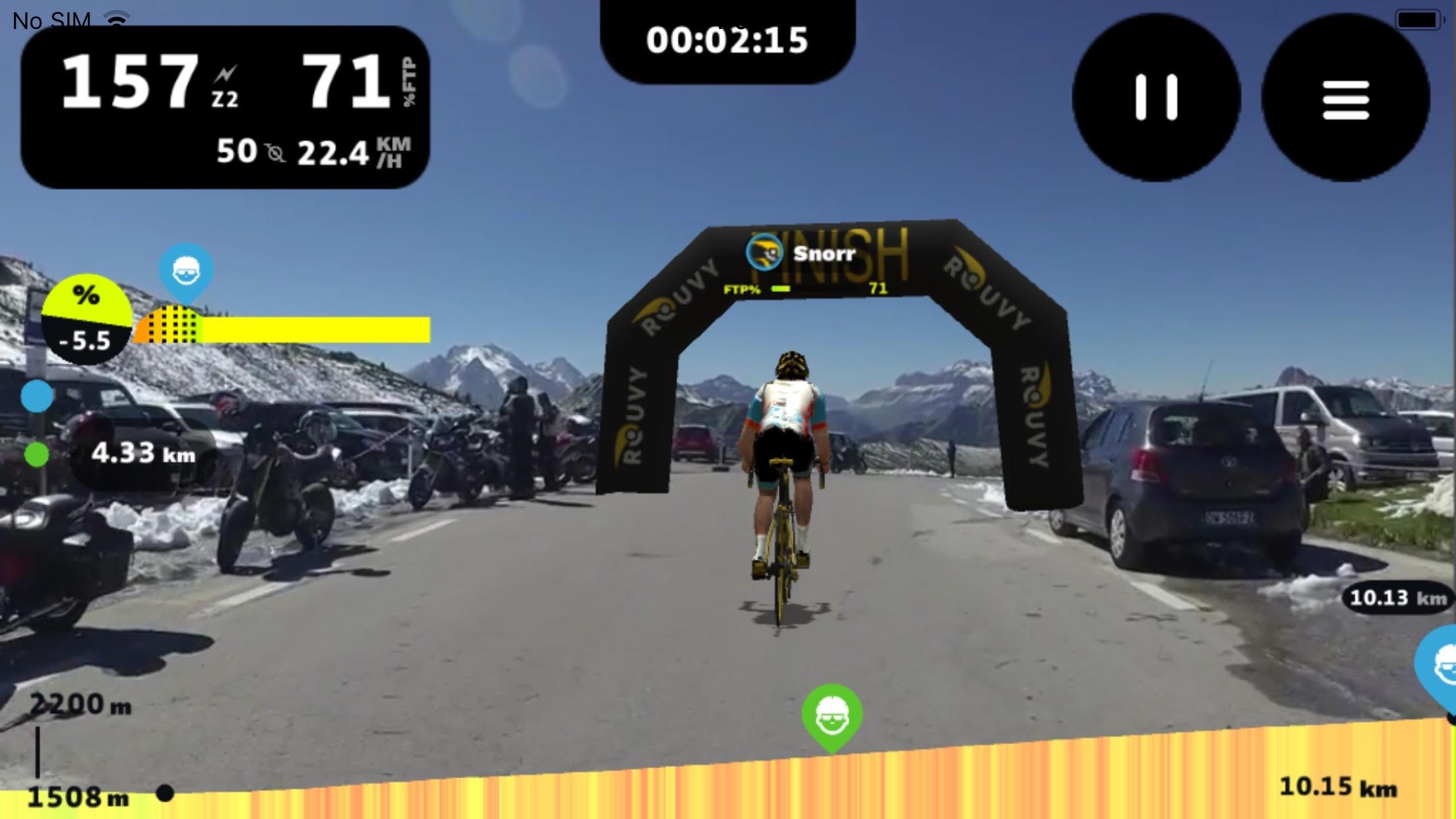 Rouvy Mobile Screenshot