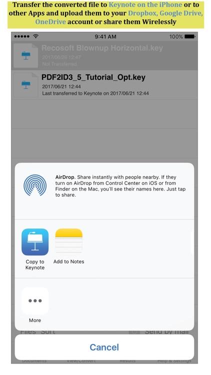 PDF to Keynote by PDF2Office screenshot-3