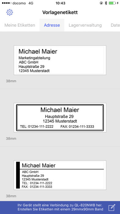 Screenshot for Brother iPrint&Label in Germany App Store