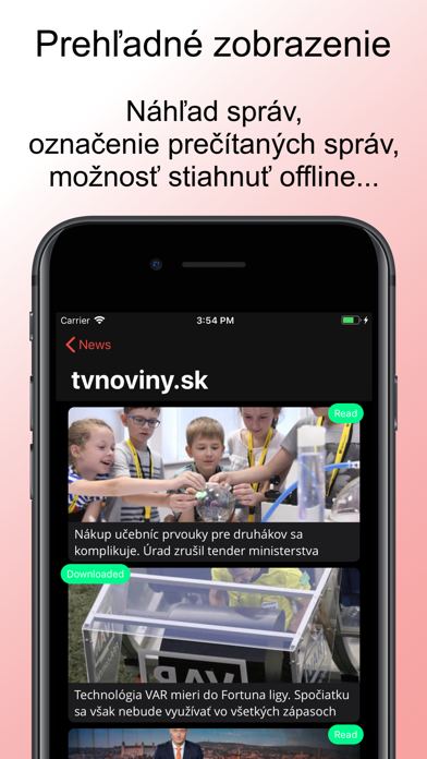 News sk screenshot three