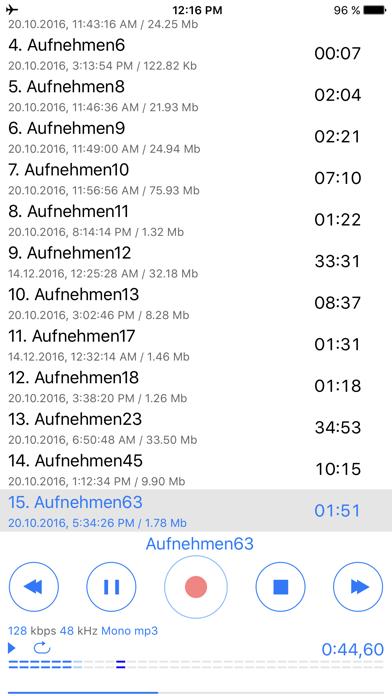 Dictaphone - Audio-RekorderScreenshot von 2