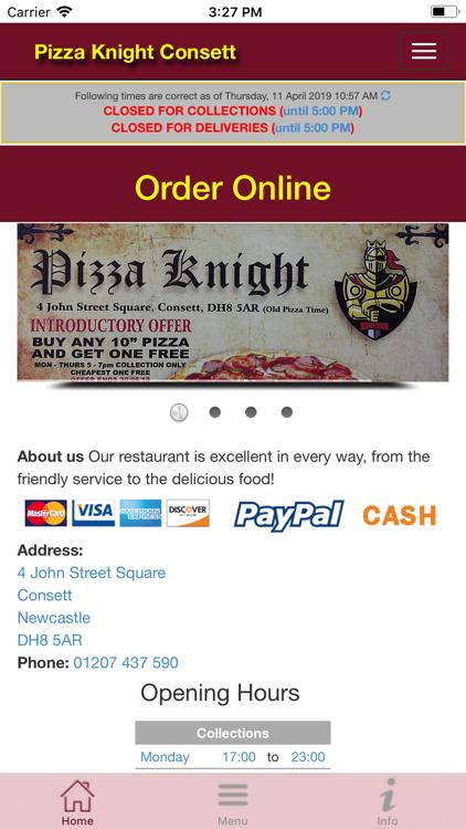 Pizza Knight Consett Ios Apps Appagg