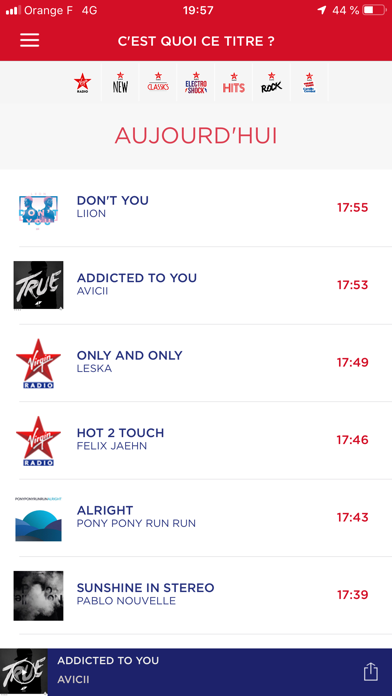 Virgin Radio FR screenshot four