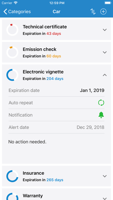Expires! Screenshots