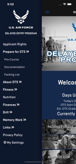 USAF Delayed Entry Program on the App Store