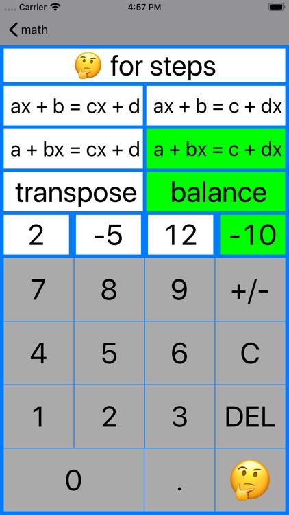 ALinearEqn Linear Equations screenshot-4