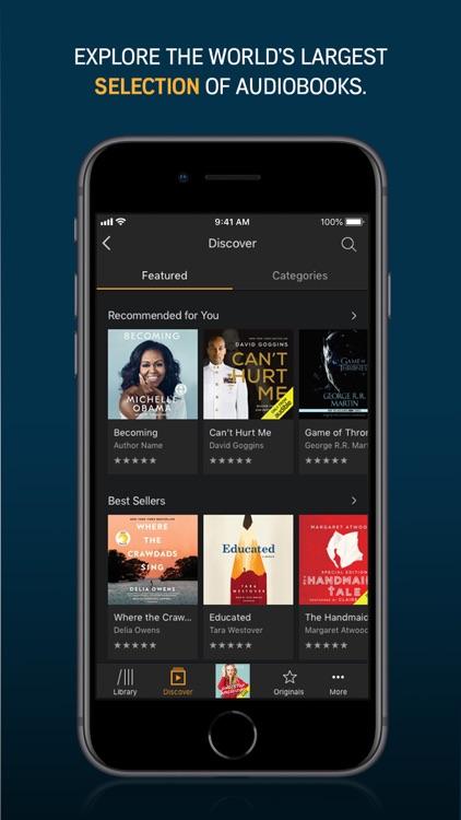 Audible audiobooks & originals screenshot-0