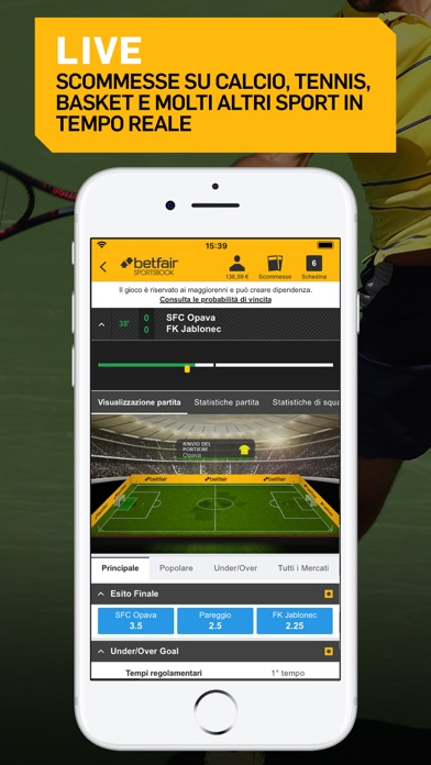 Screenshot of Betfair Sport - Scommesse2
