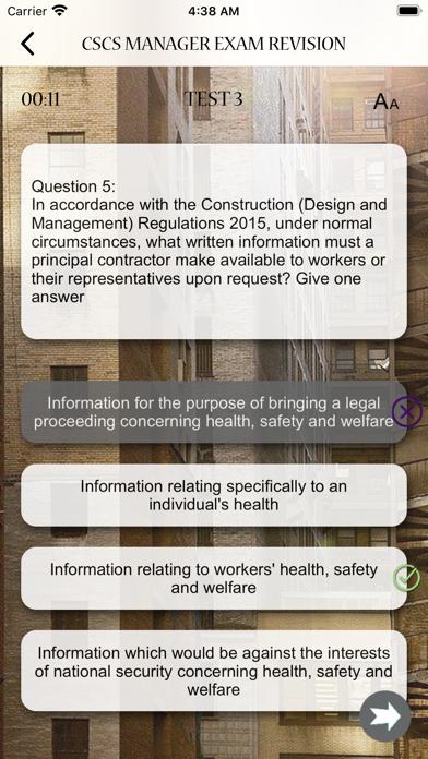 CSCS Manager Exam Revision screenshot 8