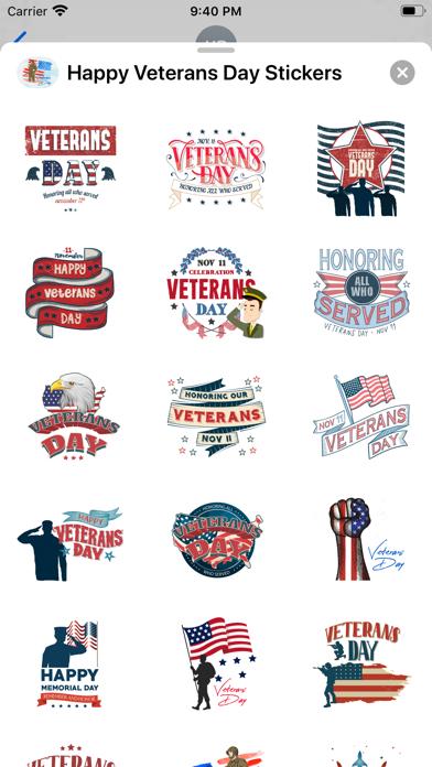 Happy Veterans Day Stickers screenshot 2