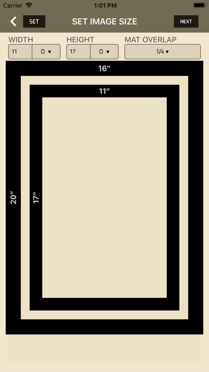 iWasFramed Matting Calculator screenshot-3