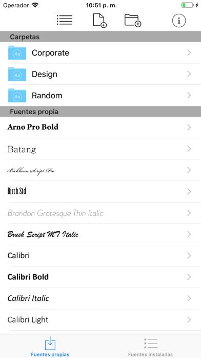 Screenshot for AnyFont in Peru App Store