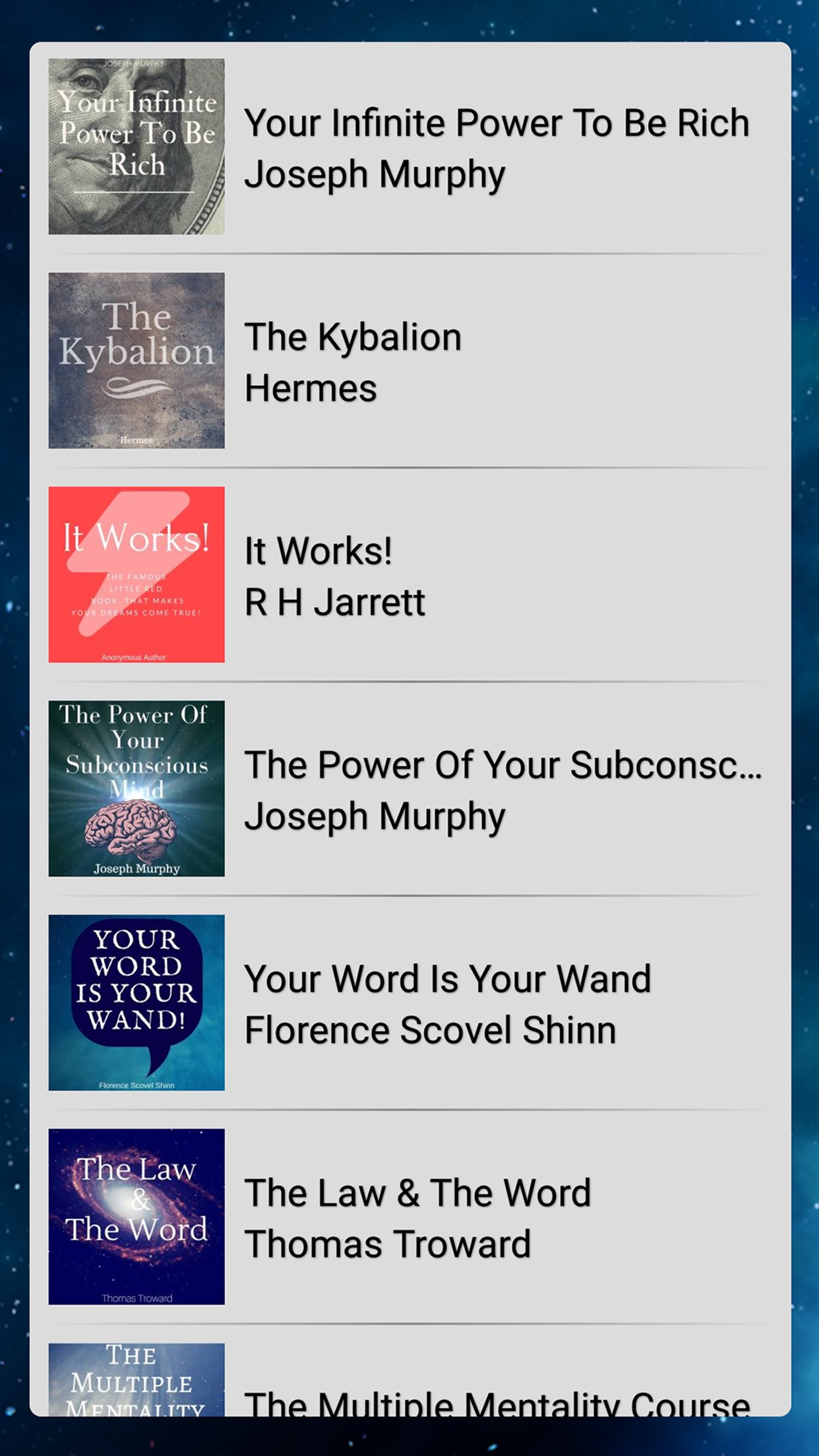 Law Of Attraction Library Screenshot