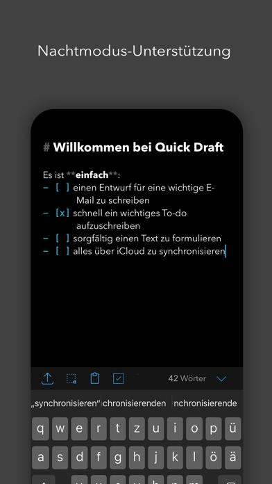 Quick Draft: SchmierblockScreenshot von 4