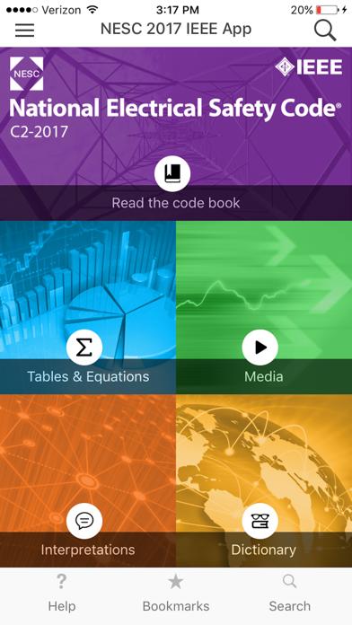 NESC 2017 IEEE App screenshot one