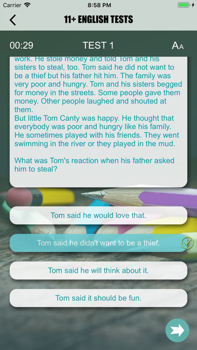 11+ English Exam Question screenshot 7