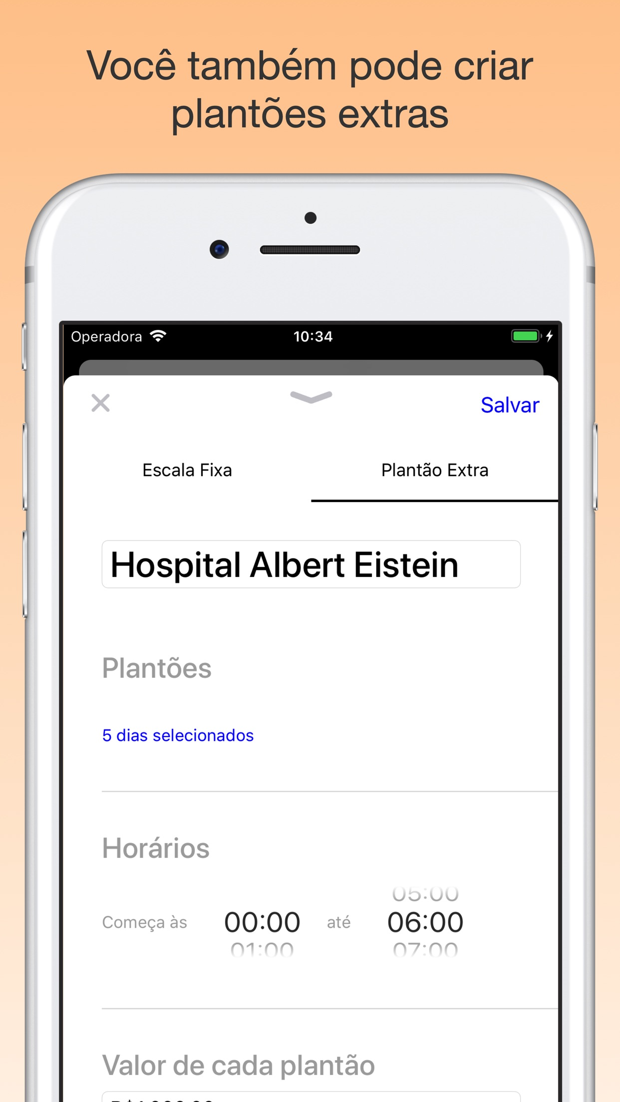 Screenshot do app Plantão Escala - Agenda Fácil