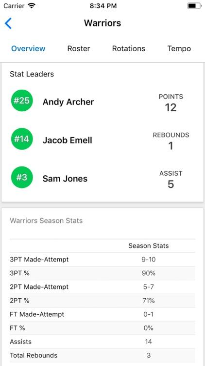Pivot Basketball Stats Tracker screenshot-4