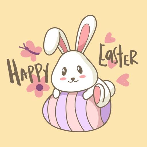 Easter Rabbit Pascha Stickers