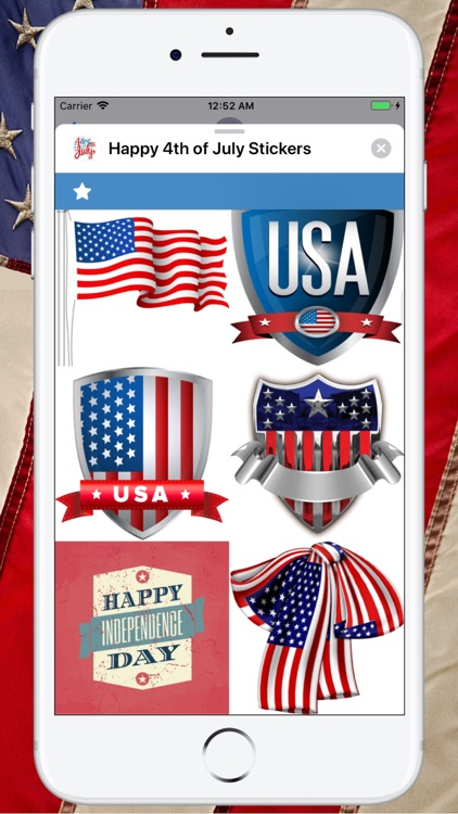 Happy 4th of July Stickers ! screenshot-6