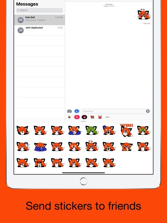 Foxy fox - emoji stickers pack screenshot 9