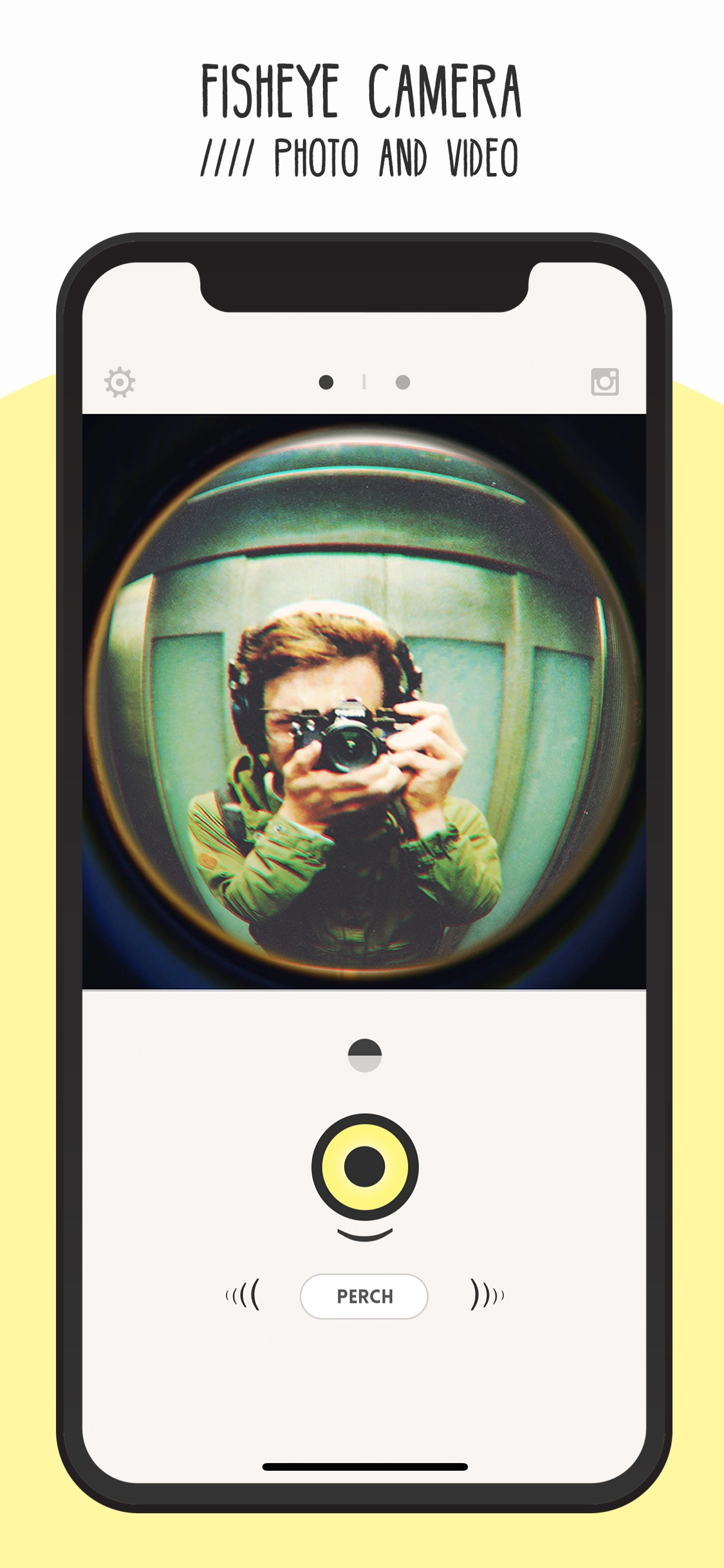 Screenshot do app FISHI - Fisheye Camera