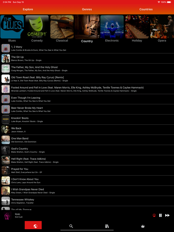 iPad Image of Musi - Simple Music Streaming.