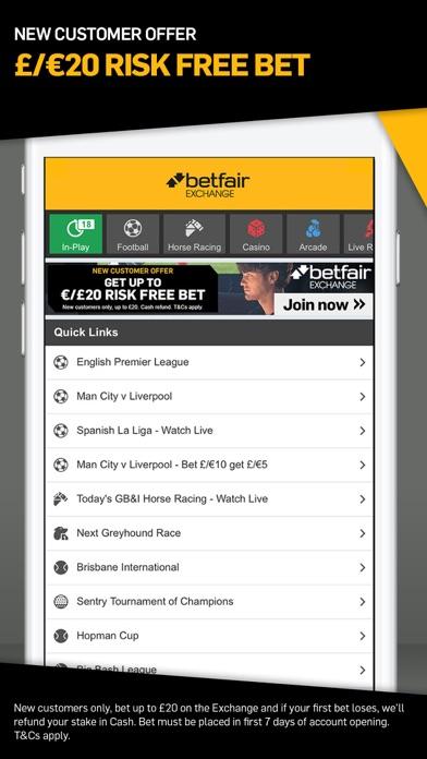 Betfair™ Exchange Betting Odds