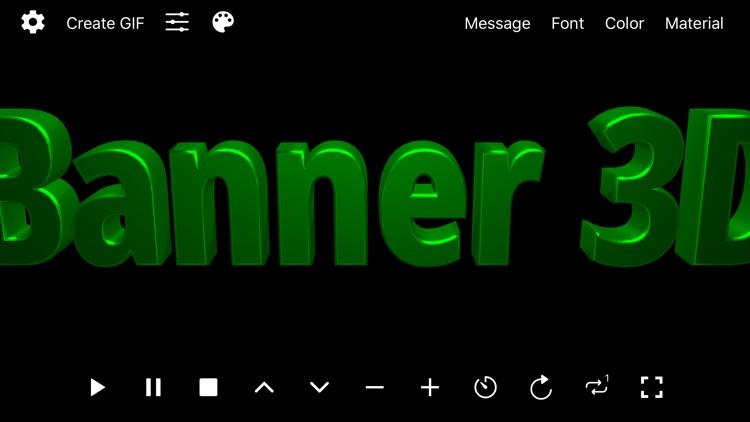 Banner 3D - scrolling text app screenshot-0
