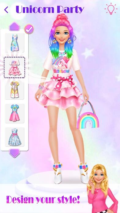 Unicorn Makeup Dress Up Artist Screenshot on iOS