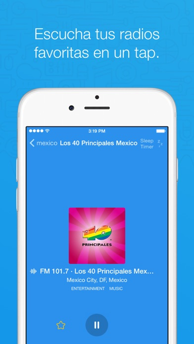 Screenshot for Simple Radio - FM & AM en Vivo in Chile App Store