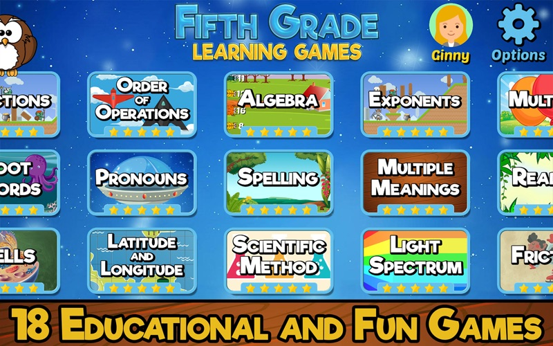 Fifth Grade Learning Games screenshot 1