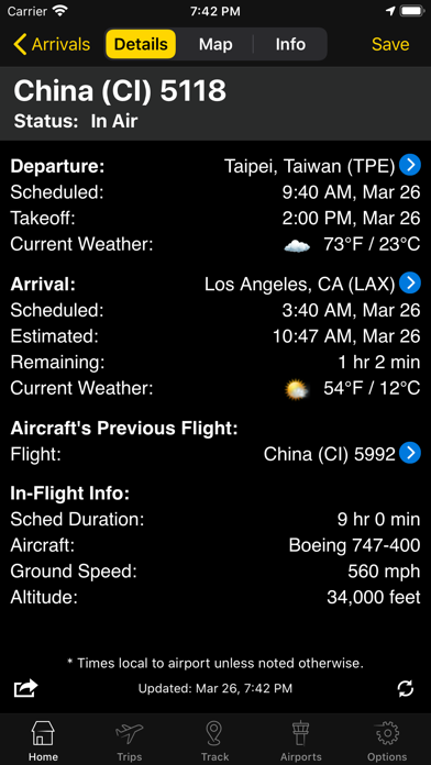 Flightview Elite Screenshot
