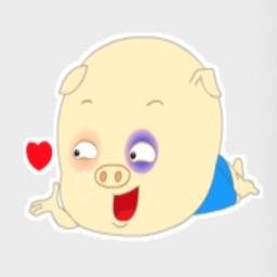 搞怪呆萌的小猪