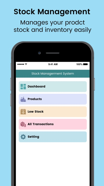 Stock and Inventory Manages by Lydia Man