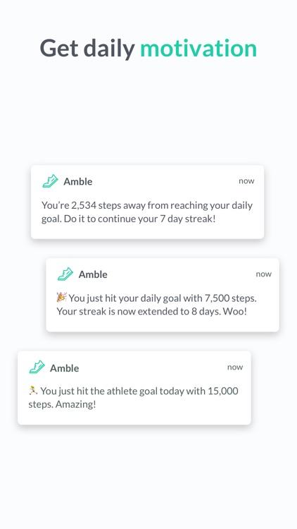 Amble - Better walking habits screenshot-4
