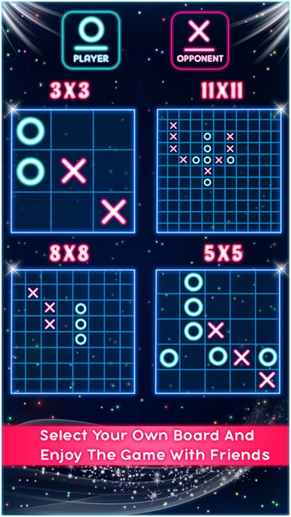 Tic Tac Toe Glow Puzzle Game screenshot-3